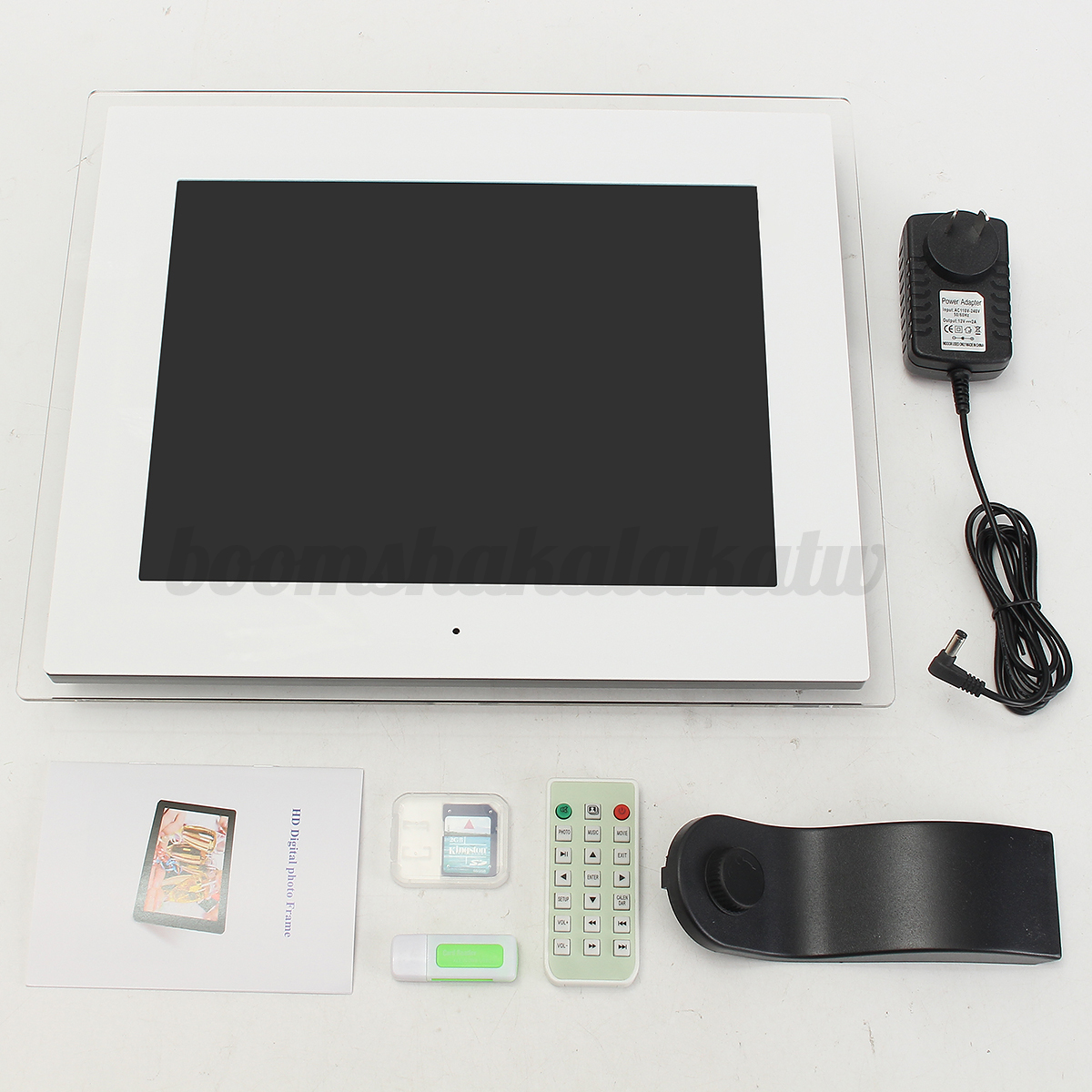 "12""/15"" FRAMELESS HD Digital Photo Frame MP3 MP4 Audio"