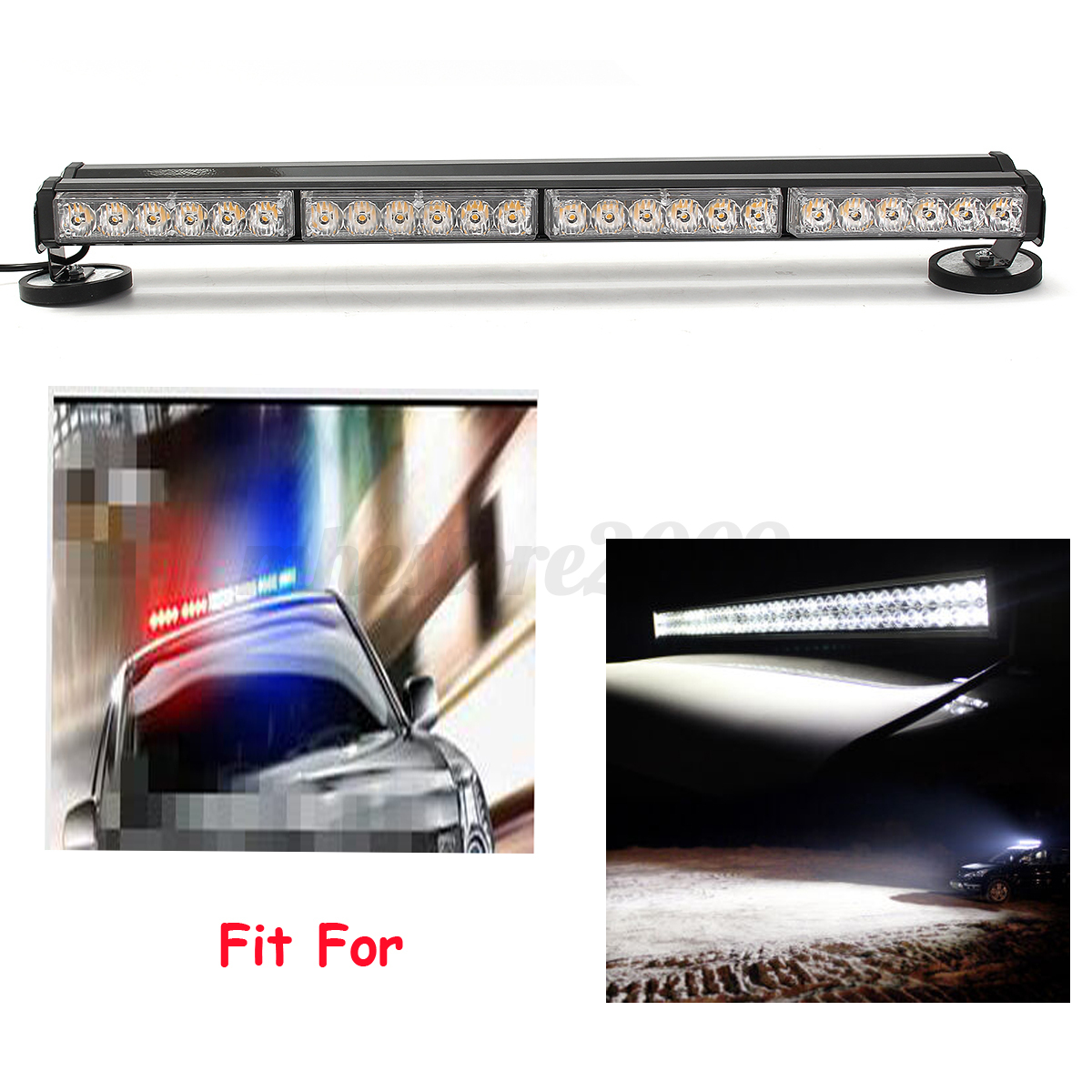 144w led work light bar beacon tow truck emergency warning. Black Bedroom Furniture Sets. Home Design Ideas