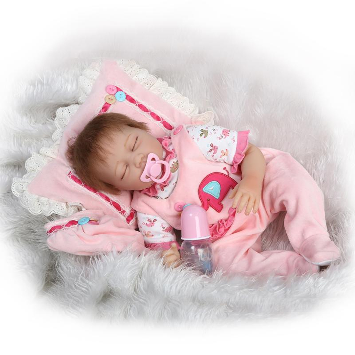 18/'/'//22/'/' Baby Girl Boy Newborn Doll Clothes Pajamas Suit Reborn Set Kids