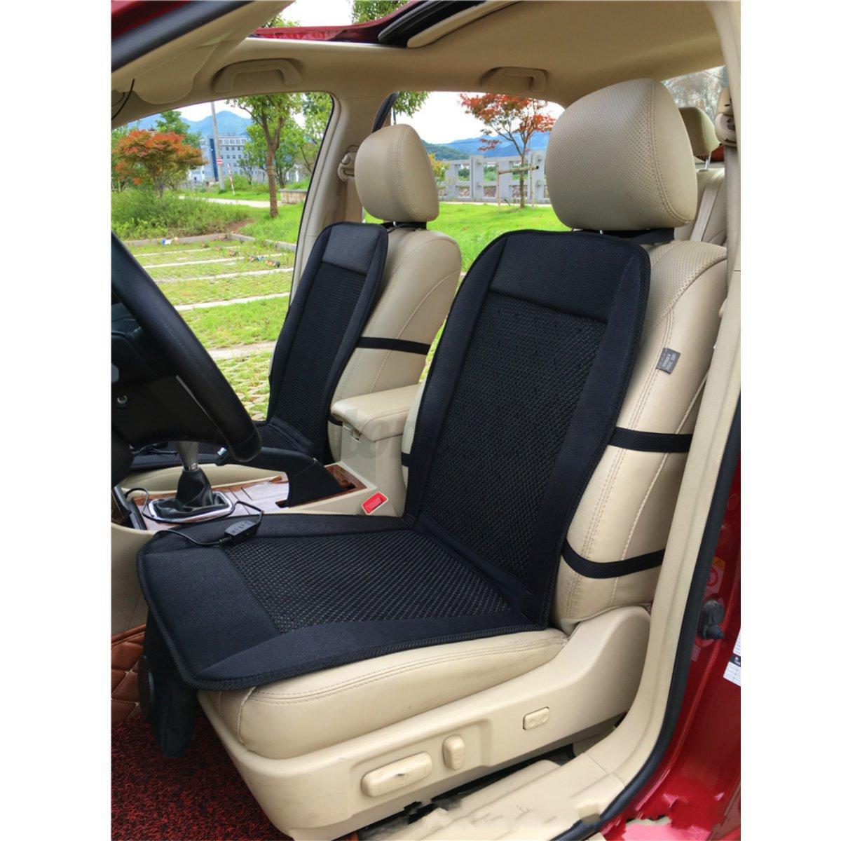 car seat cooler cushion cover summer cooling wind seat chair black cover pad 12v ebay. Black Bedroom Furniture Sets. Home Design Ideas