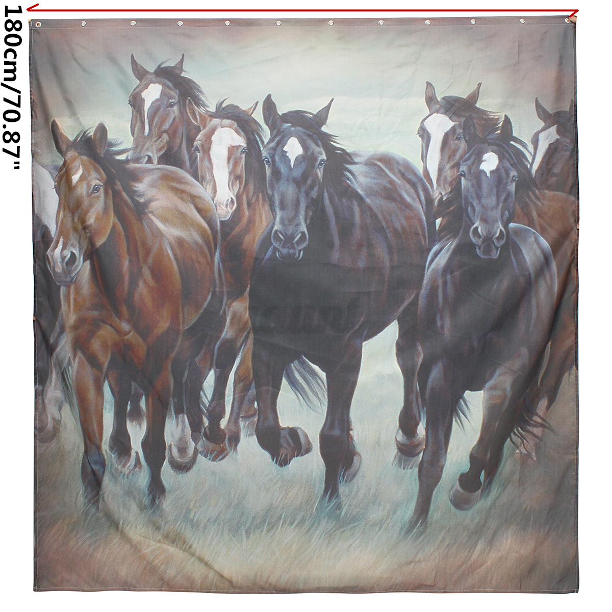 Waterproof Polyester Horse Shower Curtain Panel Sheer Home Bathroom 12 Hooks Set Ebay