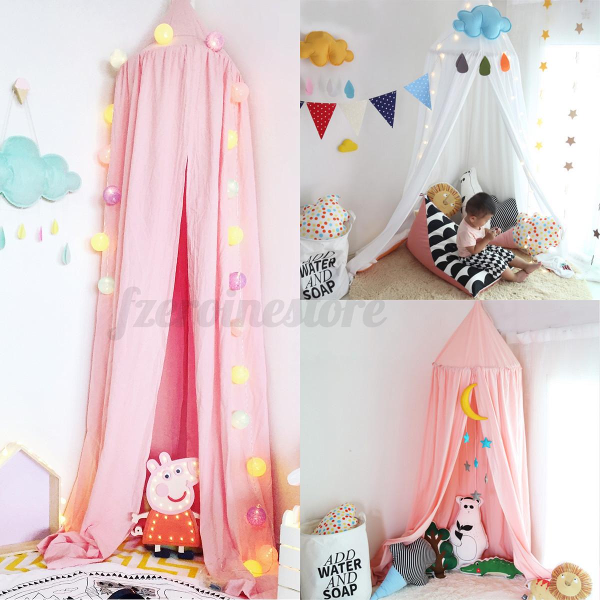 Redonda mosquitera dosel cortina curvado tienda cama cuna - Dosel cama nina ...