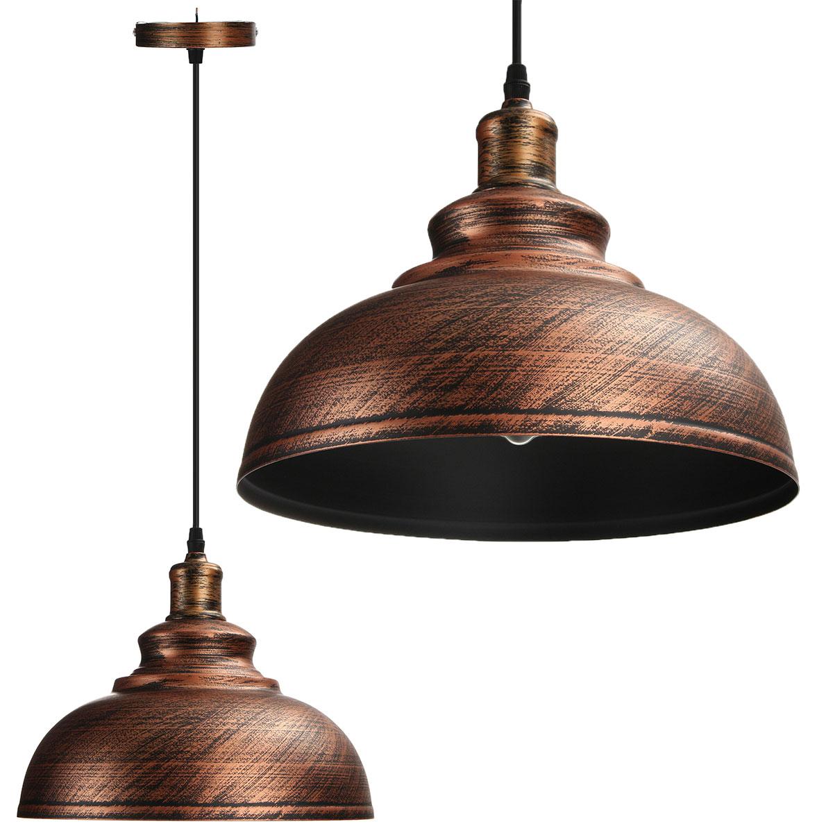 e27 r tro industriel plafonnier plafond lustre lampe lumi re suspendu clairage ebay. Black Bedroom Furniture Sets. Home Design Ideas