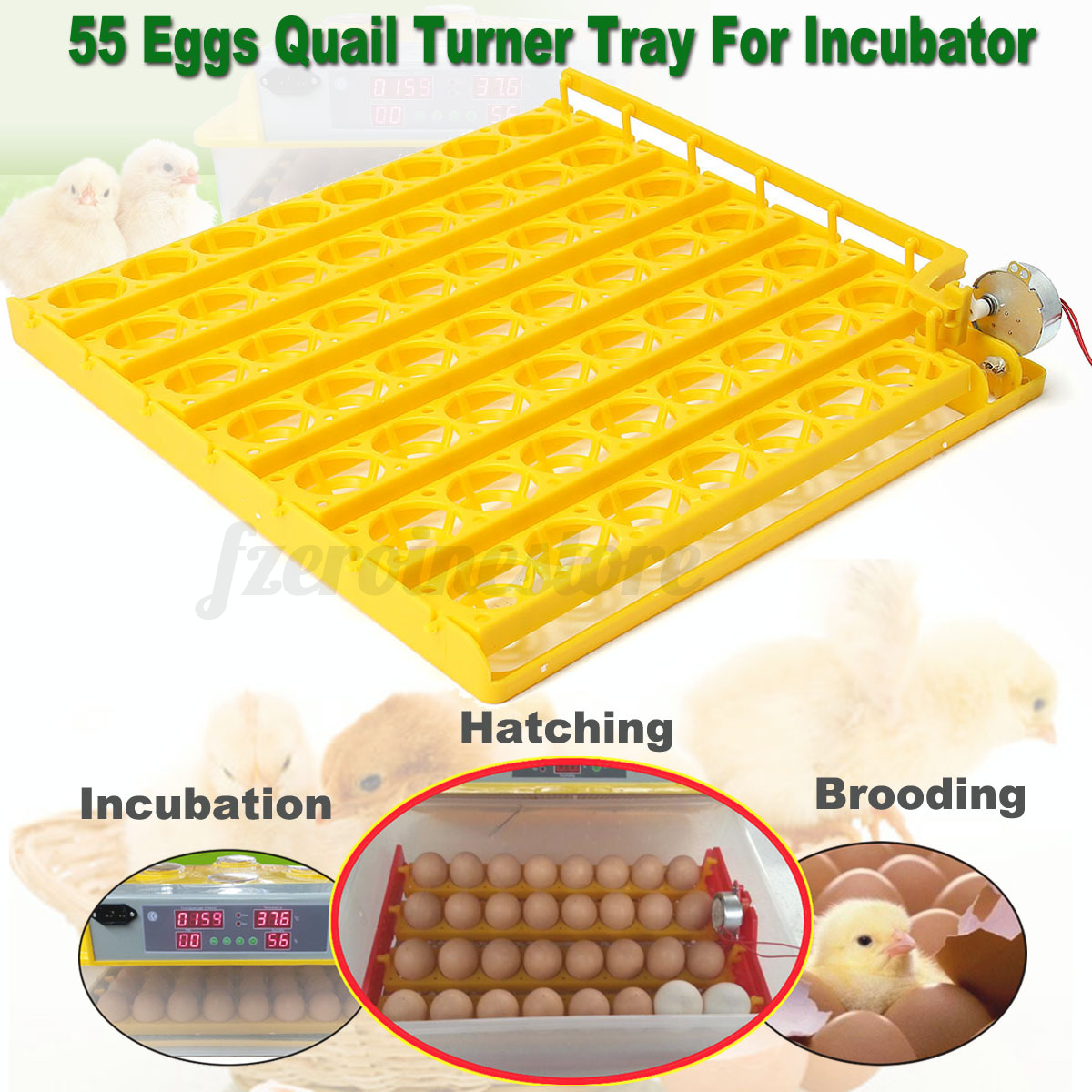 55 Egg Automatic Incubator Tray Digital Hatching Chicken Temperature  #C59E06