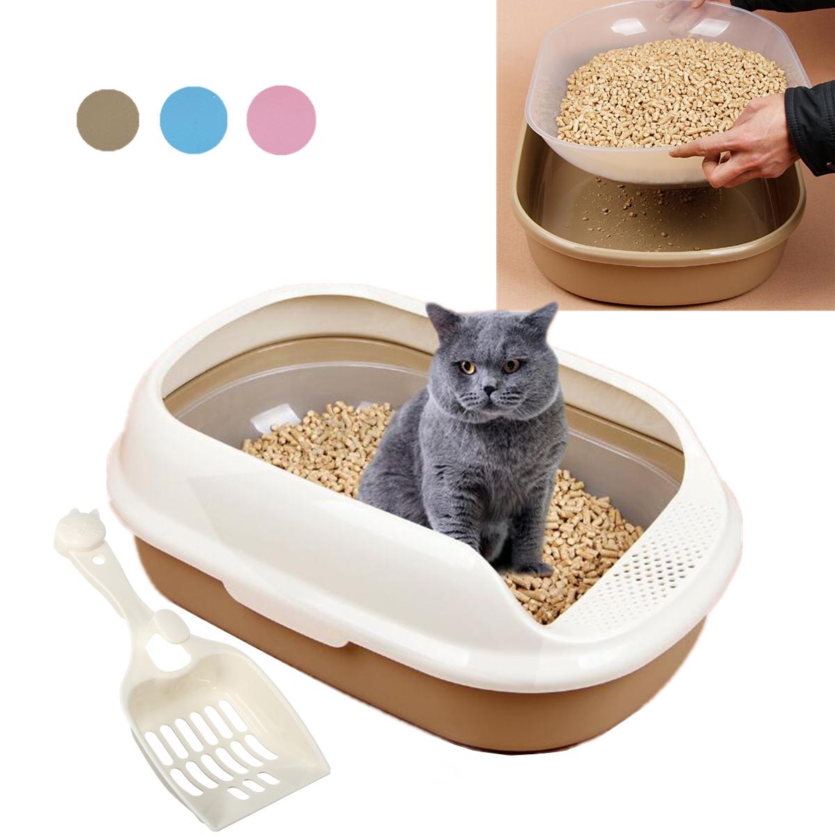 55 38 5 20 plastic cat kitten pet litter box sifting. Black Bedroom Furniture Sets. Home Design Ideas