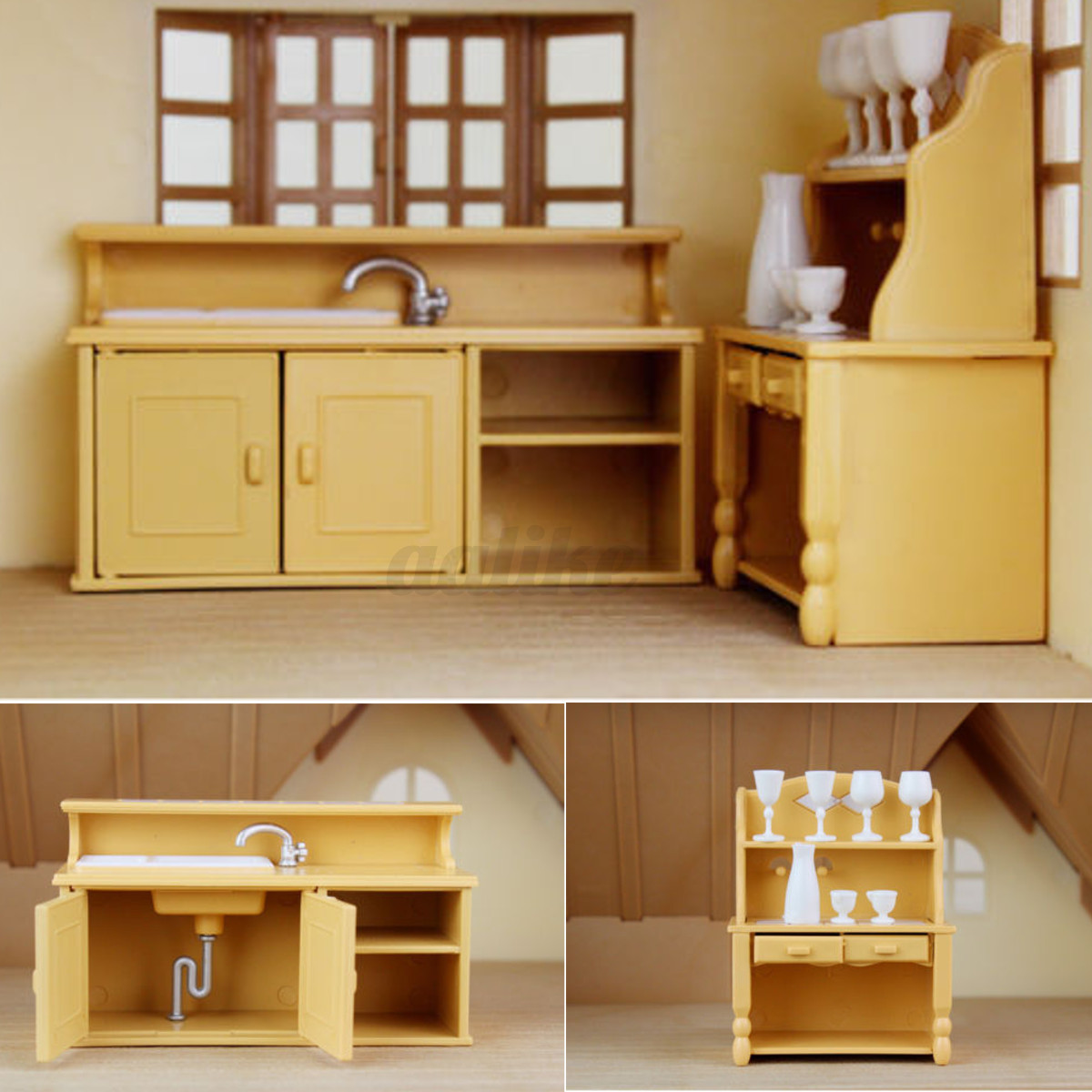 Kitchen Furniture Australia: Plastic Table Miniature Doll House Furniture Toy Set