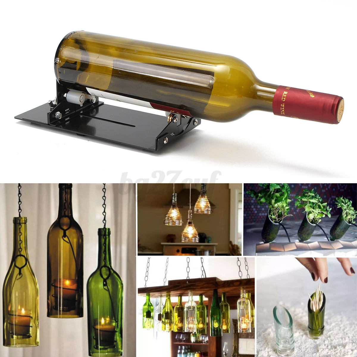 Glass diy bottle cutter wine bottles jar cutting machine for Wine bottle glasses diy