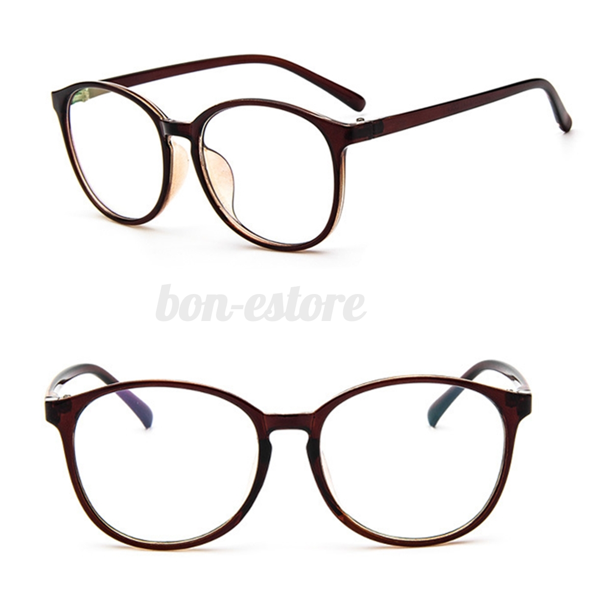 Fashion Eyeglasses Men Women Clear Plain Lens Large Oval ...