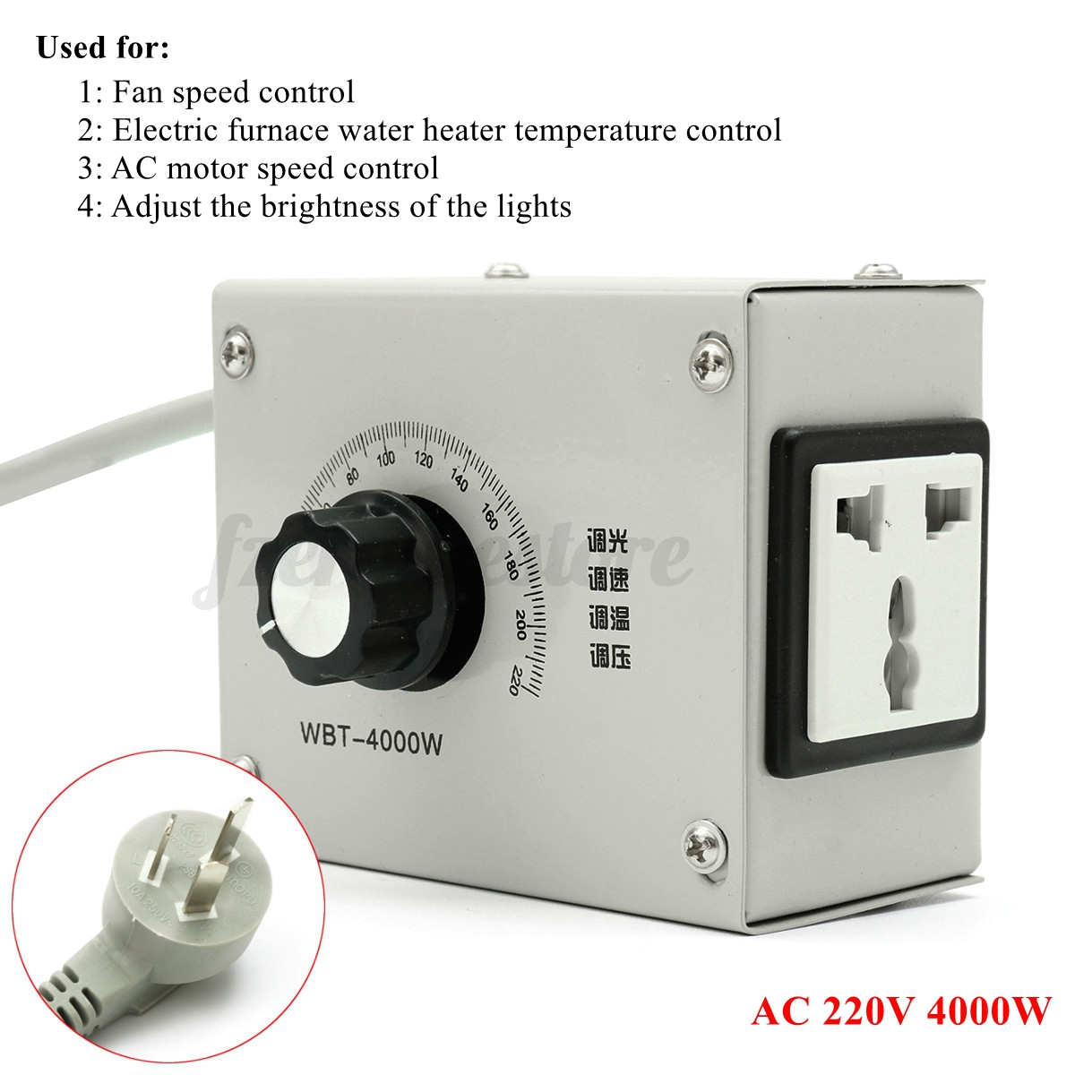 4000w ac 220v variable voltage controller for fan motor for Two speed motor control