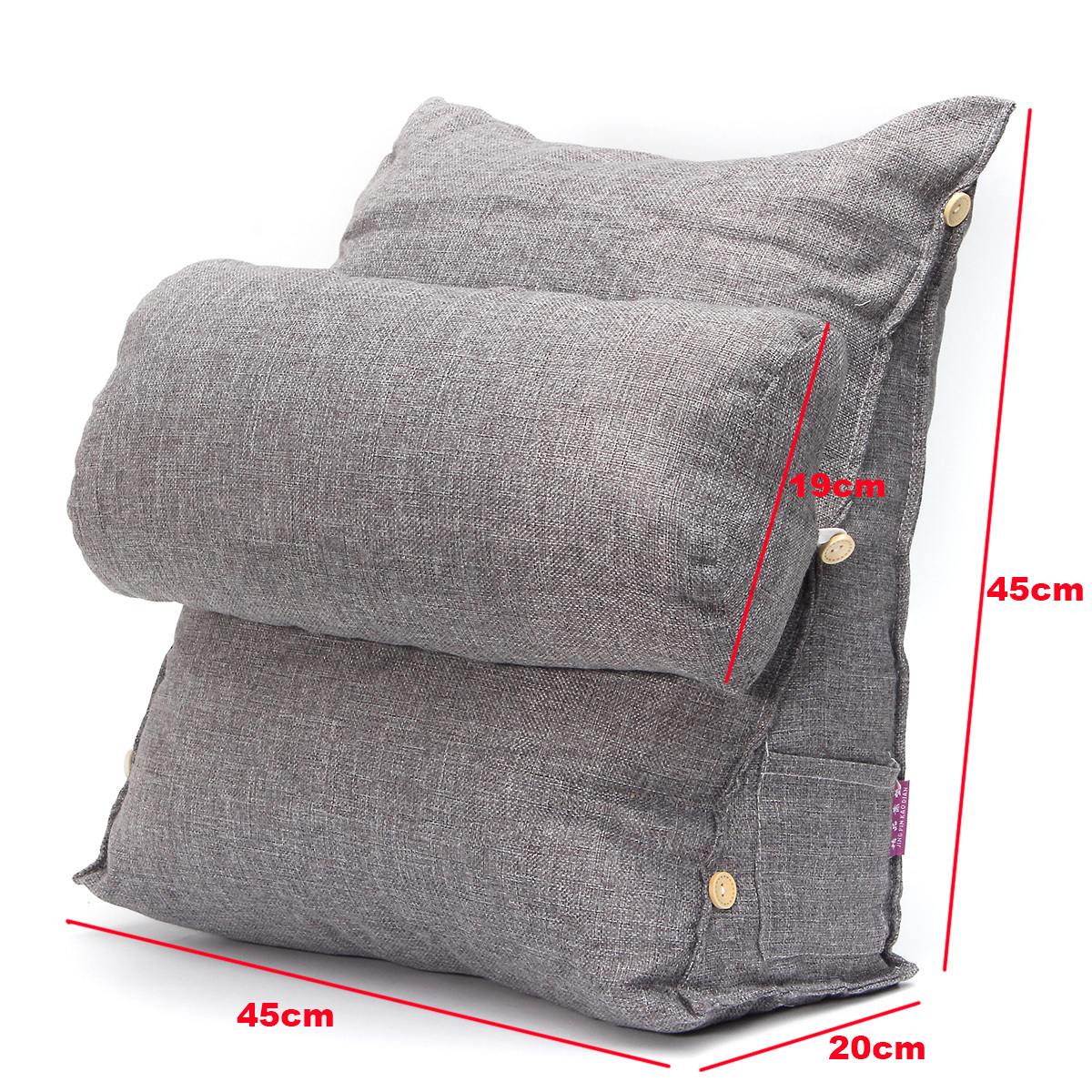 Adjustable Fip Pillow Sofa Bed Office Chair Rest Neck