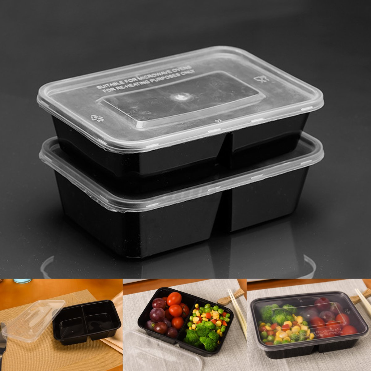 15type Takeaway Safe Food Container Meal Storage Microwave