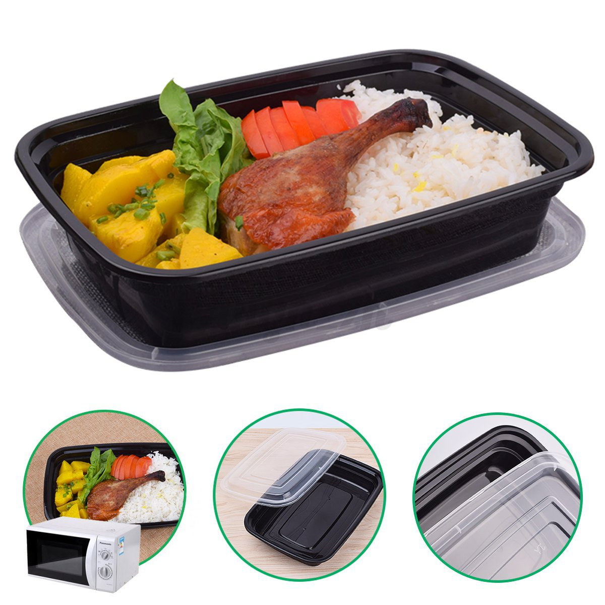 bo te d jeuner repas micro ondes lunch box bento pique nique 1 5 compartiments ebay. Black Bedroom Furniture Sets. Home Design Ideas