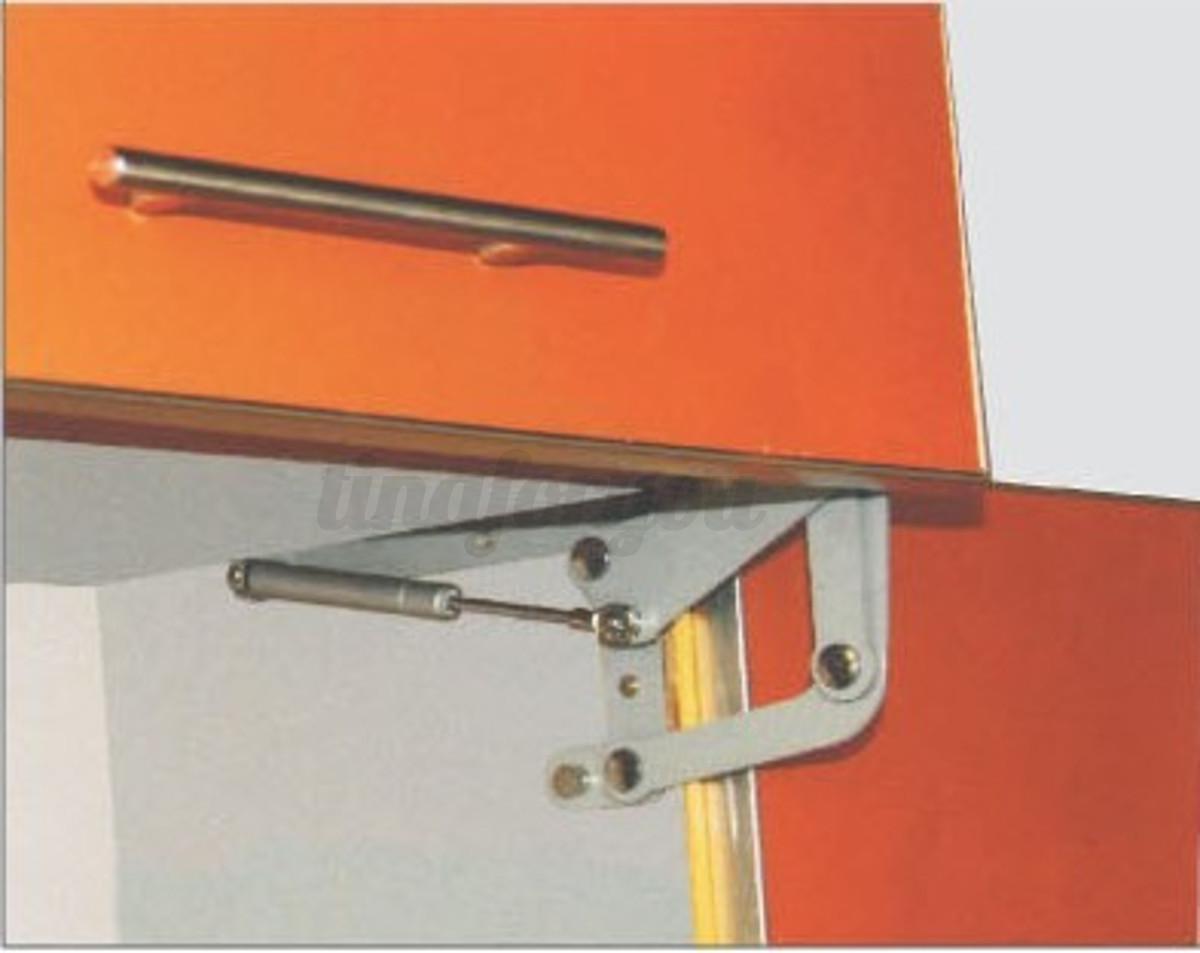 Hinged Door Lifts : Cabinet door vertical swing lift up stay pneumatic arm