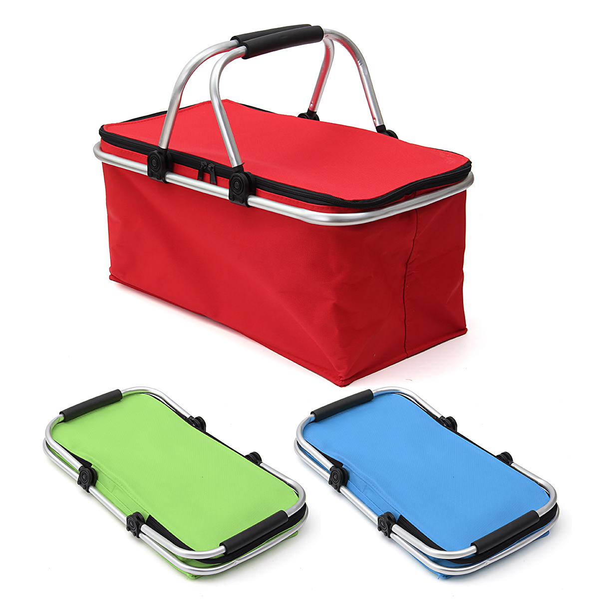 Thermo Insulated Picnic Basket Foldable Carry Bag Folding