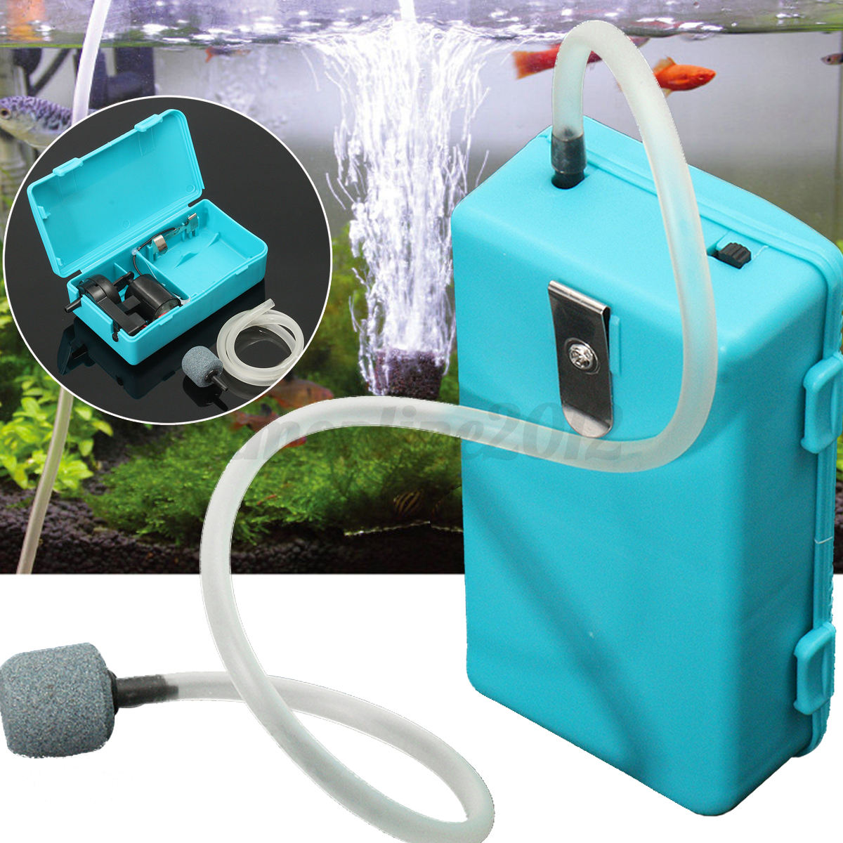 2 5w portable fishbowl oxygen pump battery operated for Air pump for fish tank