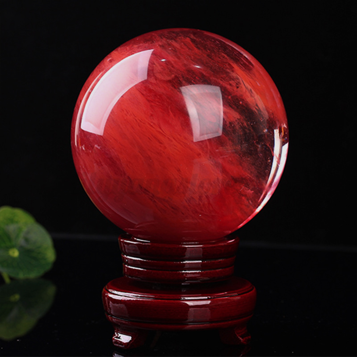 100mm red melting quartz crystal sphere ball healing Crystal home decor