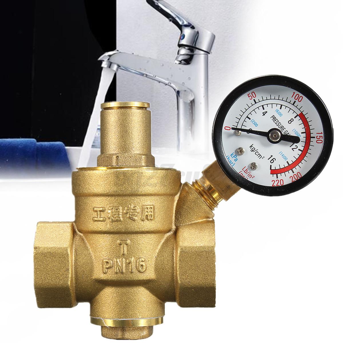 dn20 3 4 39 39 brass water valve pressure reducer gauge meter adjus. Black Bedroom Furniture Sets. Home Design Ideas