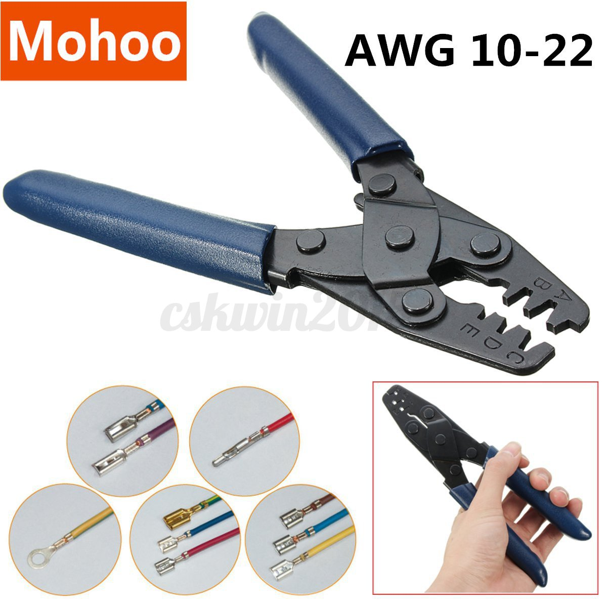AWG 10-22 Double Terminal Crimp Electrical Crimping Tool Wire ...