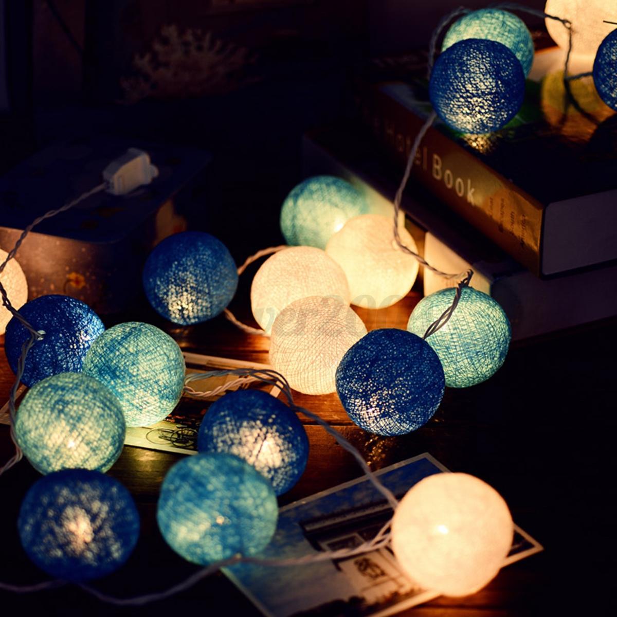10 20 30 cotton ball leds string fairy lights lanterns for Decor 9 iball