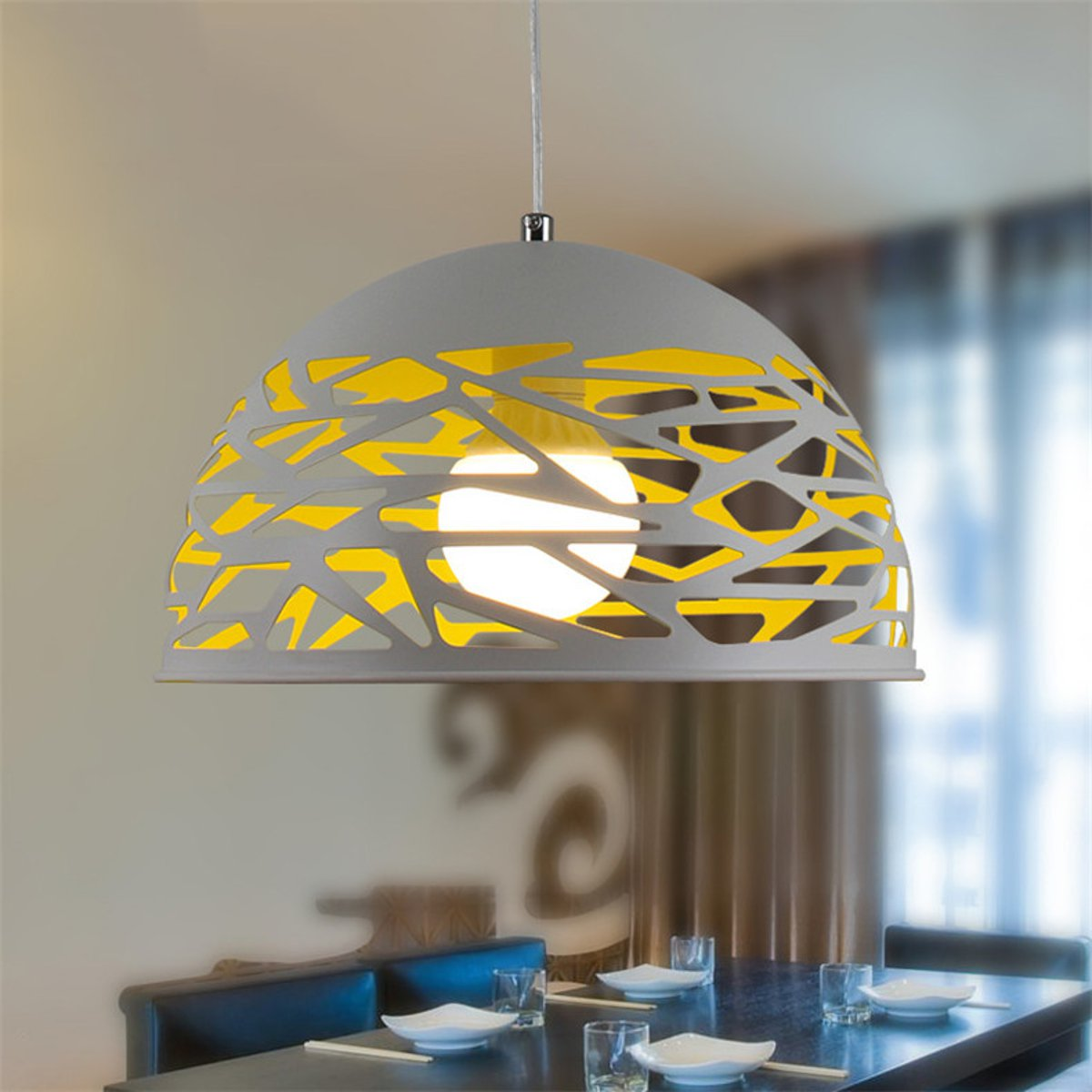 Retro-Lampe-de-Plafond-Suspension-Lustre-Pendante-Plafonnier-Luminaire-Eclairage