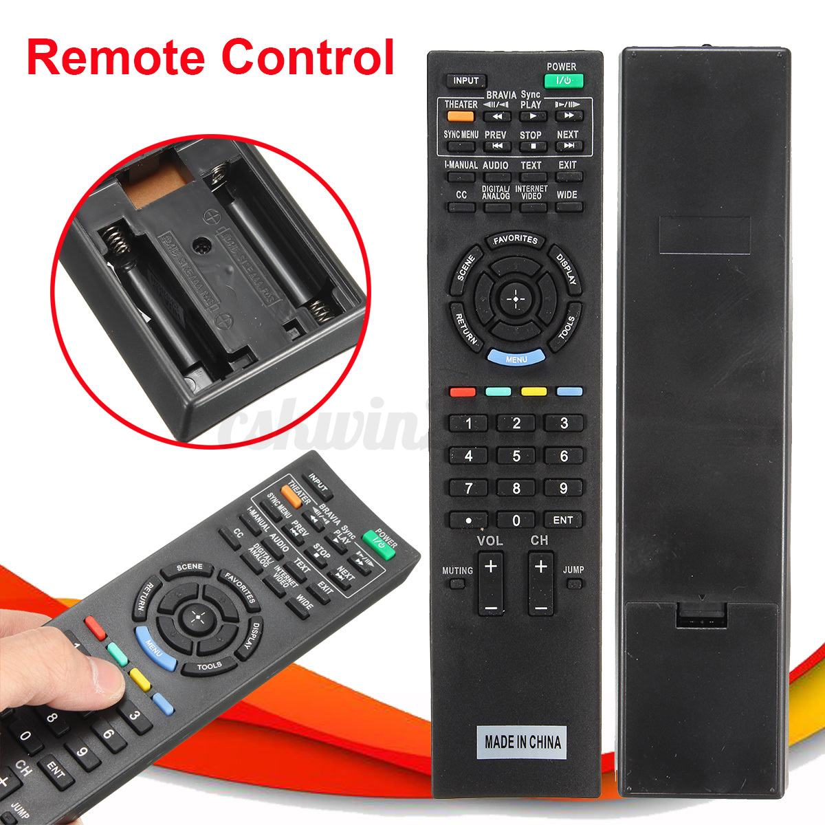 remote control for sony rm ed045 original tv lcd fernbedienung replacement ebay. Black Bedroom Furniture Sets. Home Design Ideas