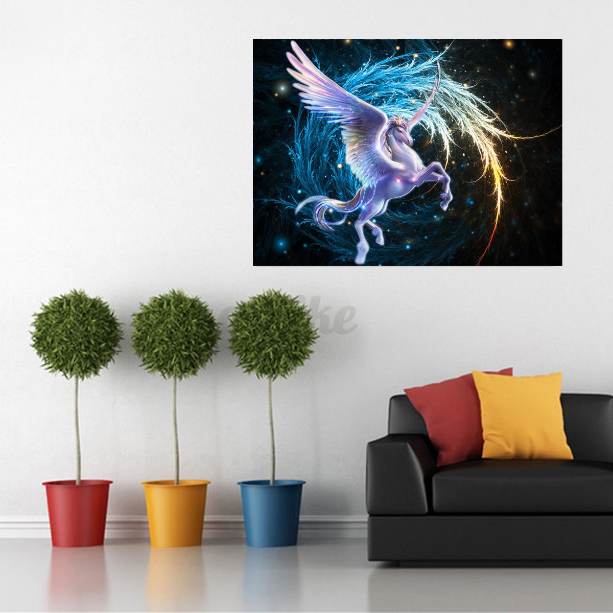 Diy Galaxy Wall Decor : D diamond pegasus galaxy diy painting embroidery cross