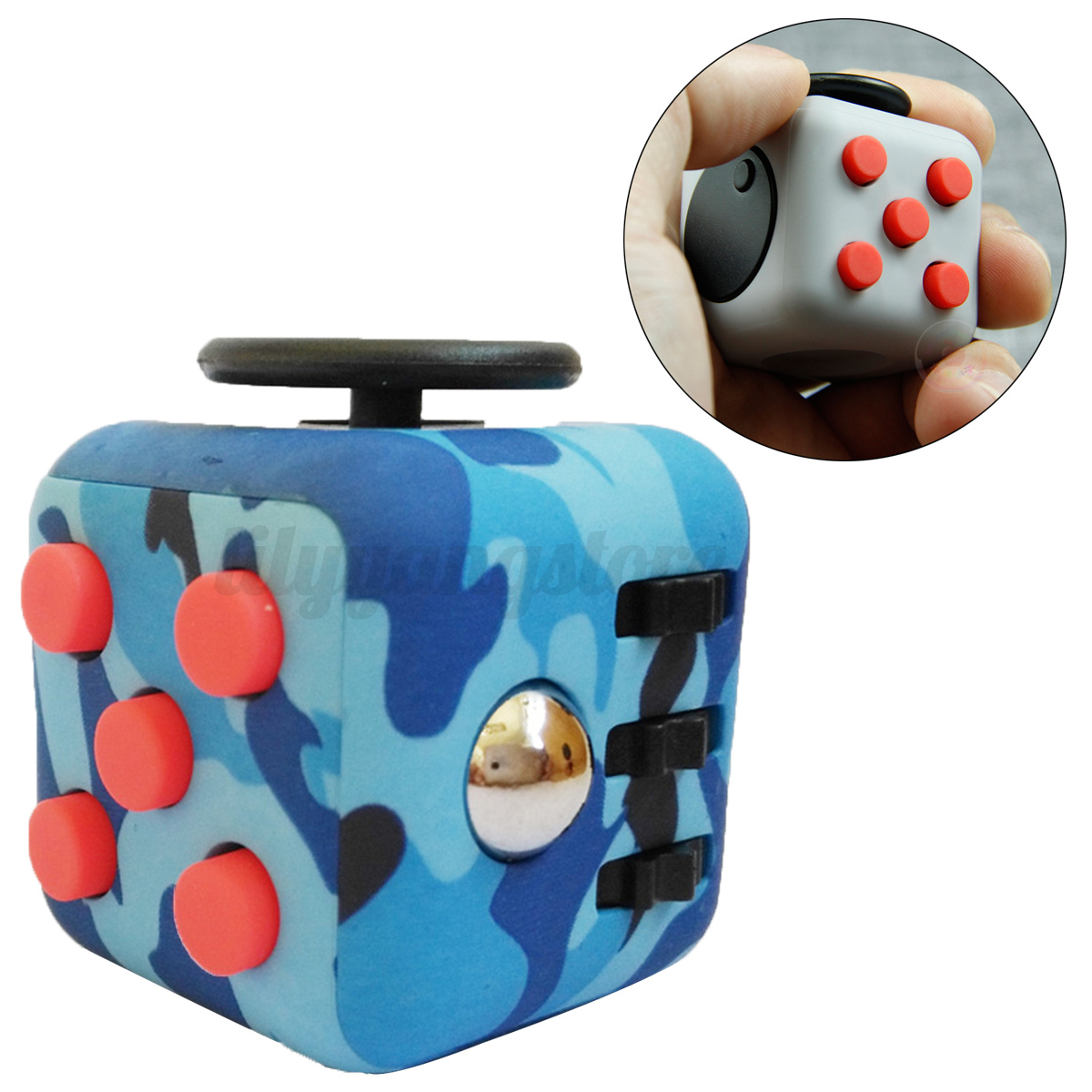 NEW Fidget Anxiety Stress Relief Cube Focus Adults Kids ...