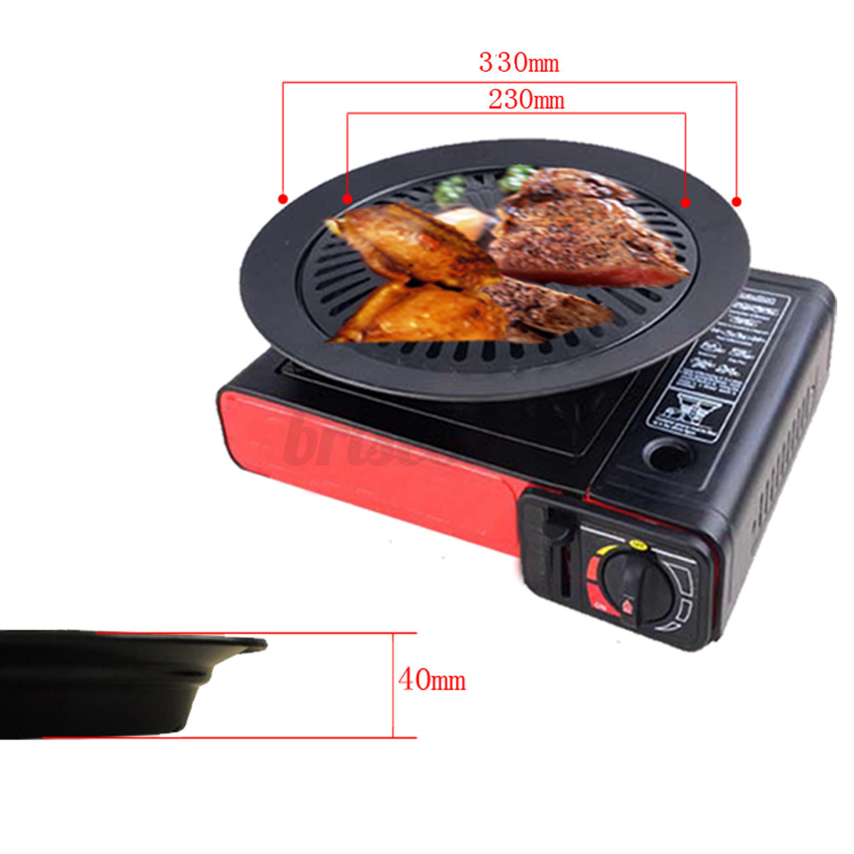 Non stick 13 smokeless indoor stovetop barbecue bbq grill for B kitchen glass grill