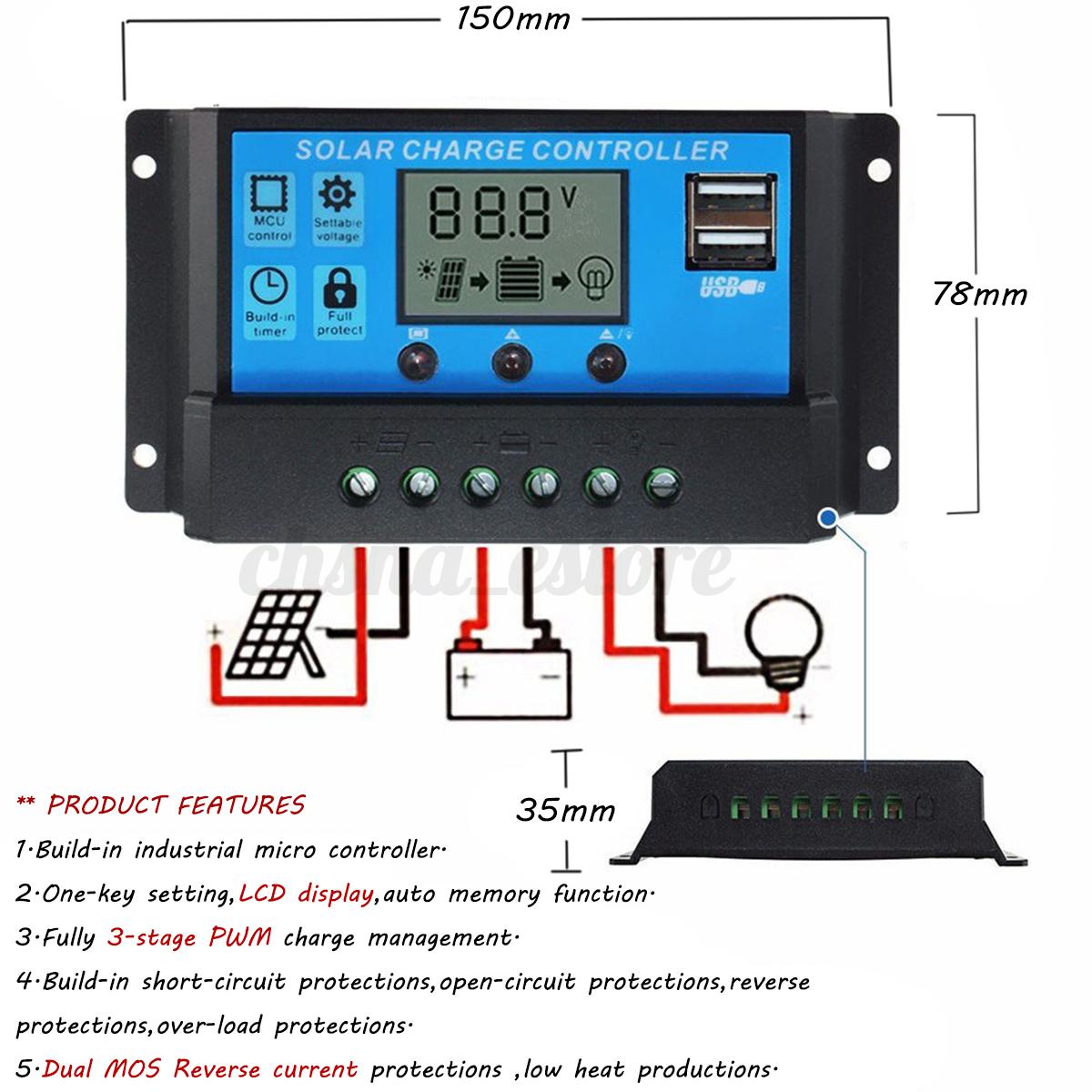 10A-20A-30A-12V-24V-LCD-Bateria-Solar-Panel-Regulador-de-Carga-Auto-Controlador