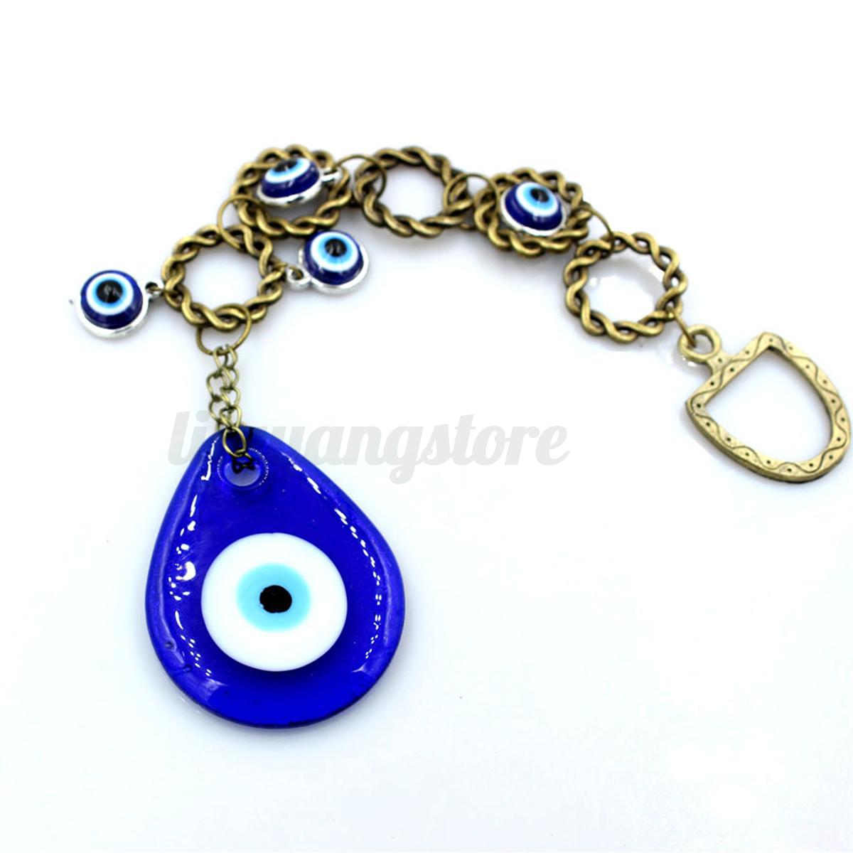 Hamsa Turkish Blue Glass Evil Eye Amulet Wall Hanging