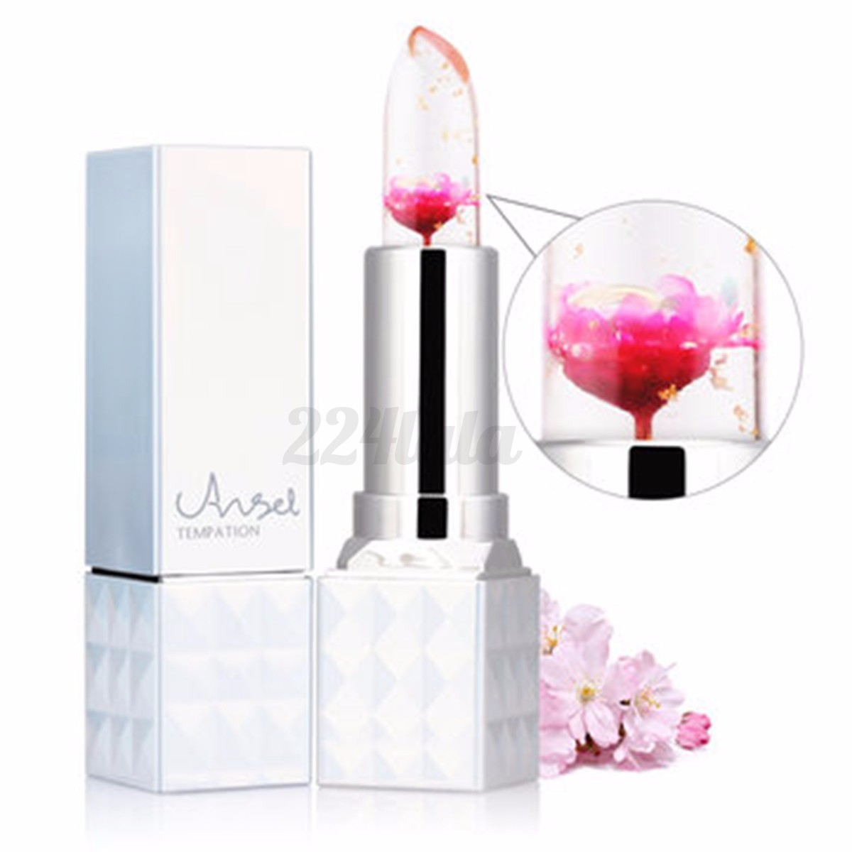 Magic Jelly Flower Lipstick Color Changing Long Lasting Lip Gloss Moisturizin