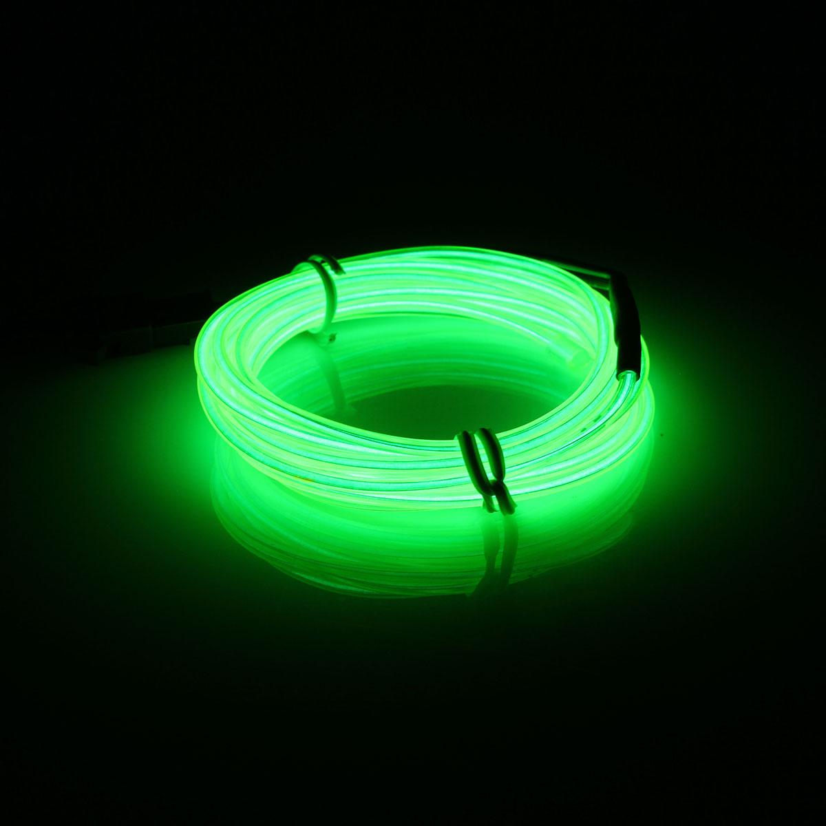2m led flexible neon light glow el strip tube cool wire rope home car decor ebay. Black Bedroom Furniture Sets. Home Design Ideas