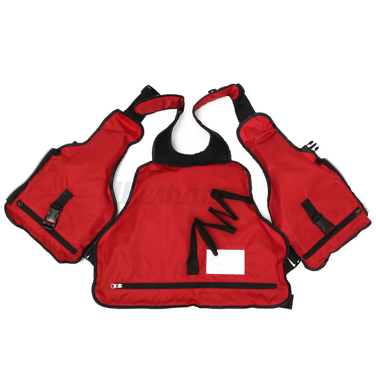 Marine-Reflective-Sailing-Aid-Kayak-Fly-Fishing-Boating-Ski-Life-Jacket-Vest-AU
