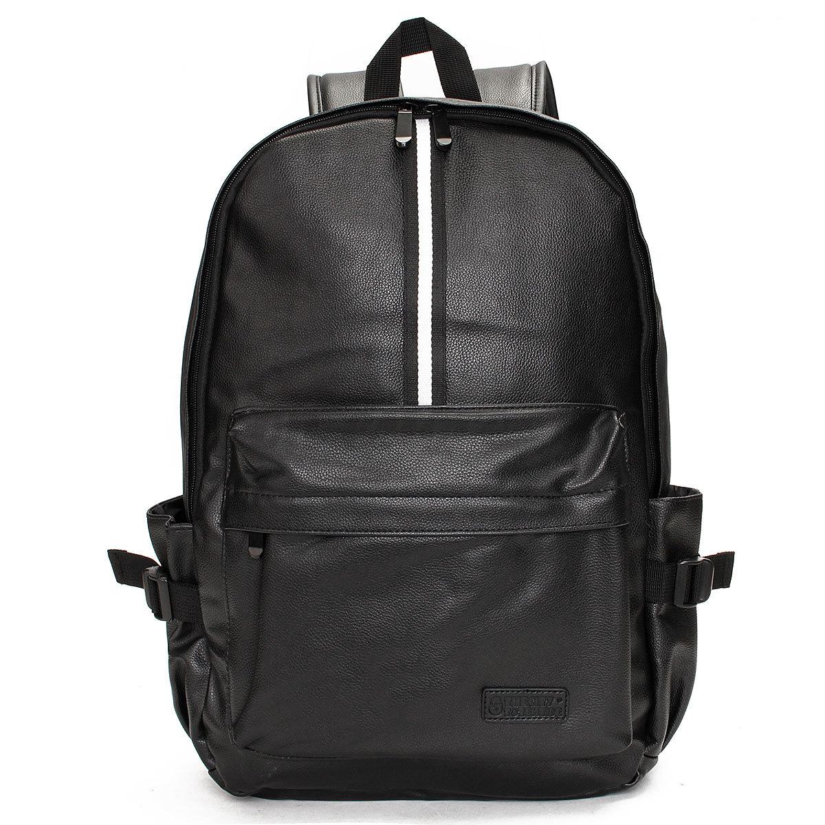 Travel Rucksack Camping  Leather Men Shoulder Bag Backpack School Laptop Satchel