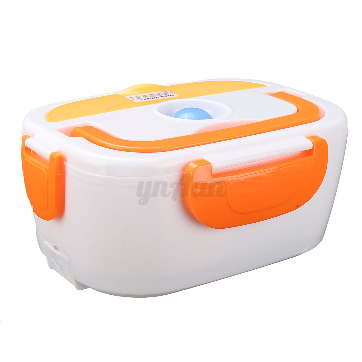 portable car plug electric heated lunch box heating bento food warmer 12v. Black Bedroom Furniture Sets. Home Design Ideas