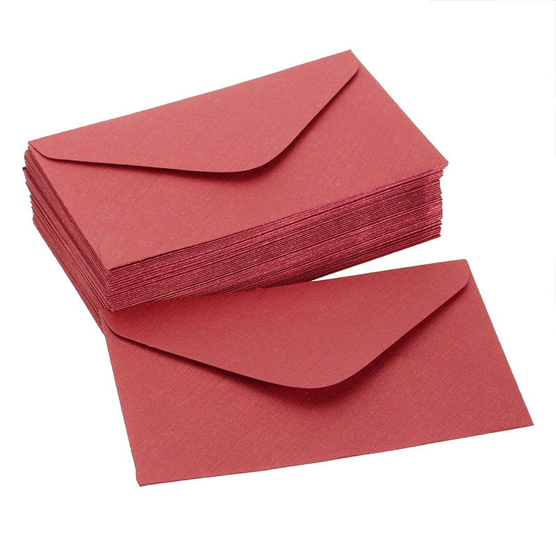 50pcs retro colored blank mini paper envelopes wedding invitation