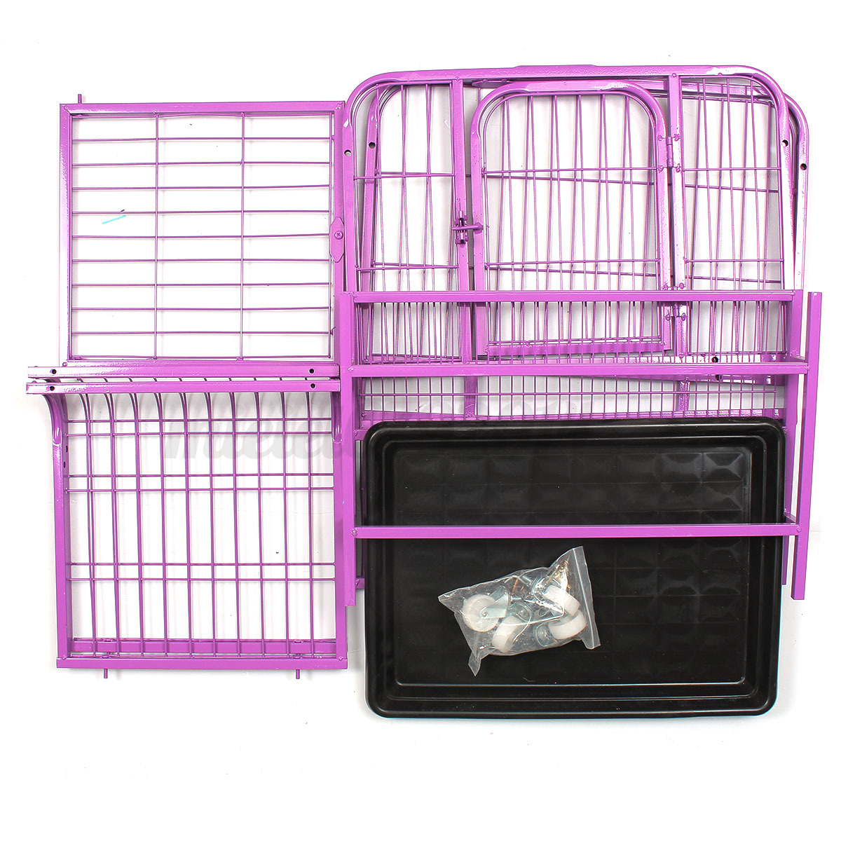 heavyduty folding strong steel pet dog puppy cage crate carrier  - detail image