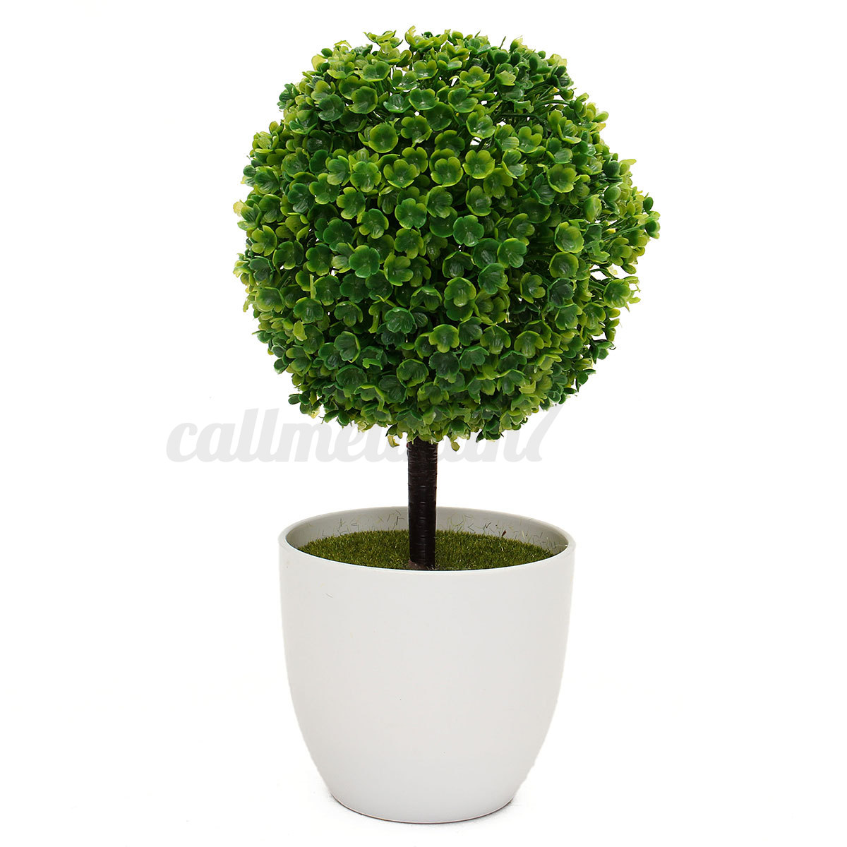 artificial topiary tree ball plants in pot garden home