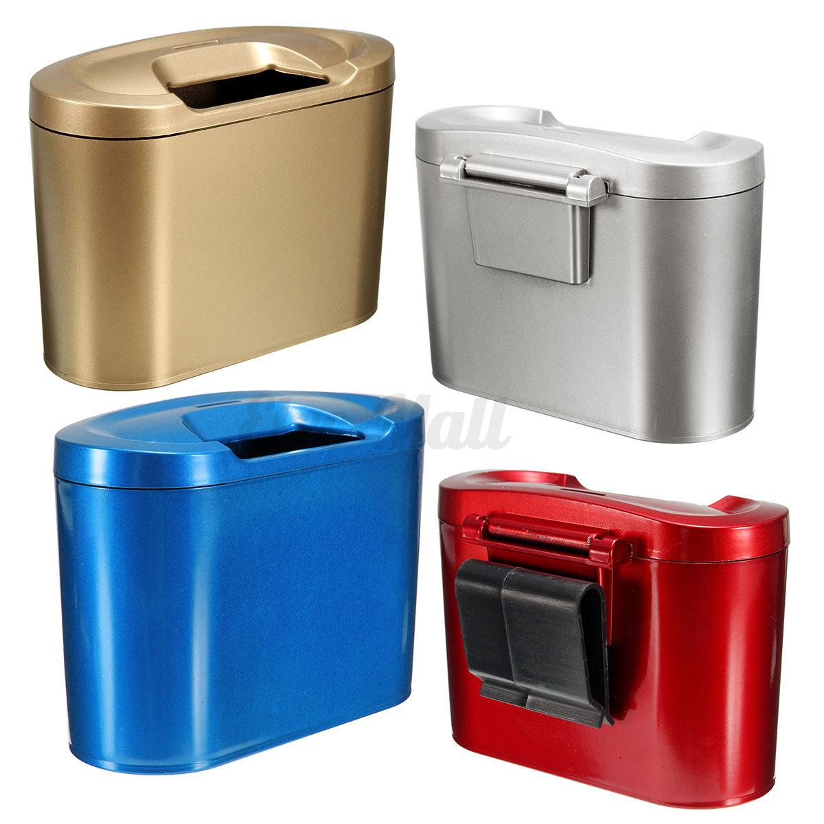 car trash can bin garbage storage box multifunction vehicle container dustbin ebay. Black Bedroom Furniture Sets. Home Design Ideas