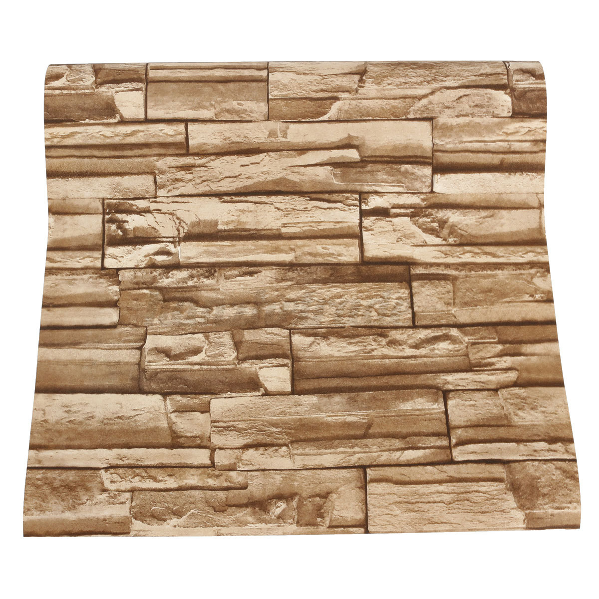 Textured Brick Wallpaper Uk Part - 48: Brick-Effect-Wallpaper-Vinyl-3D-Slate-Stone-Split-