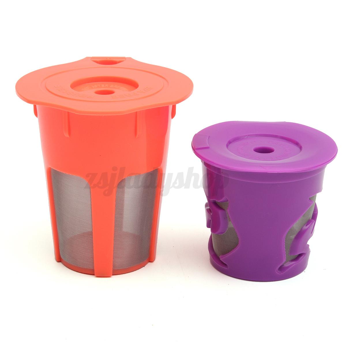 2x K-Cups K-Carafe Refillable Reusable Carafe Coffee Filter Combo For Keurig 2.0