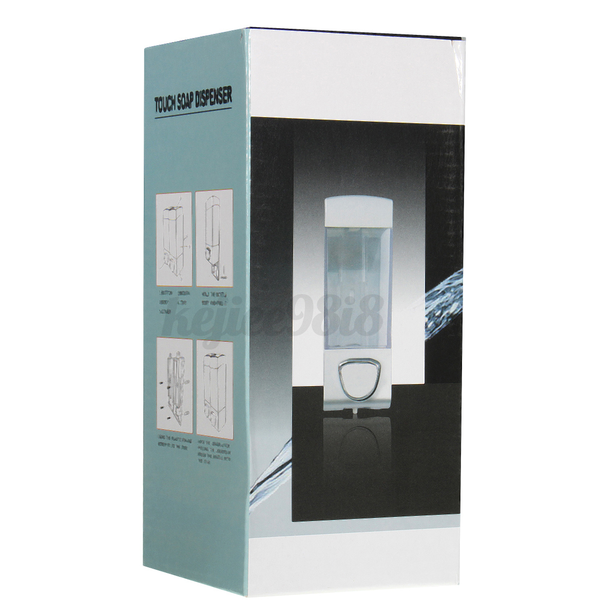 Montaje pared libre dispensador jabon champ jabonera - Dispensador jabon ducha ...