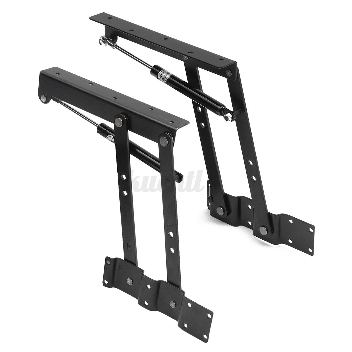 Spring Lift Mechanism : Pair diy lift up top coffee table lifting frame mechanism