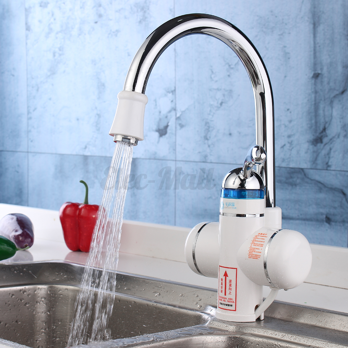 LED Tankless Electric Instant Kitchen Faucet Hot Water Heater ...