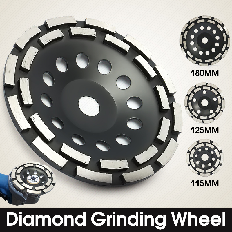 4.5//5//7/'/' Diamond Grinding Disc Cup Wheel Double Row Stone Brick Concrete