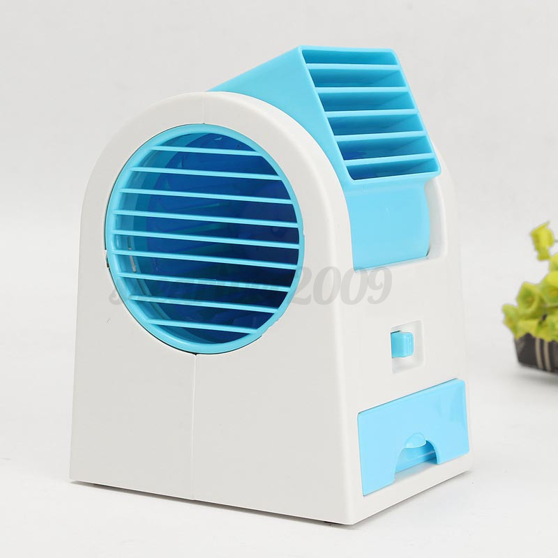 Small Air Fans : Mini small fan cooling portable desktop bladeless air