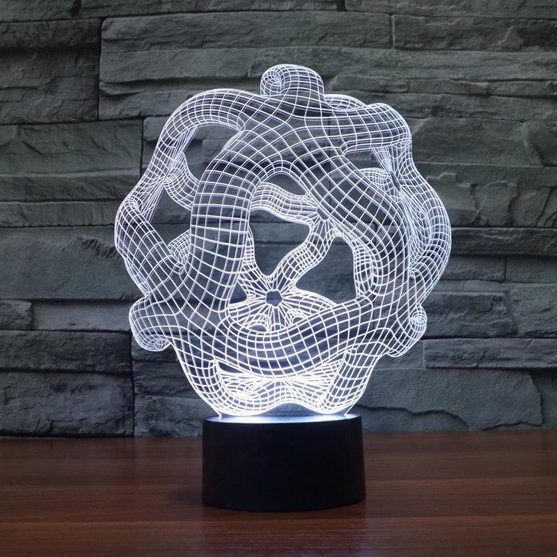 3D-LED-Nuit-Lumiere-Veilleuse-Colore-Lampes-de-Table-Chevet-USB-Portable-Cadeau