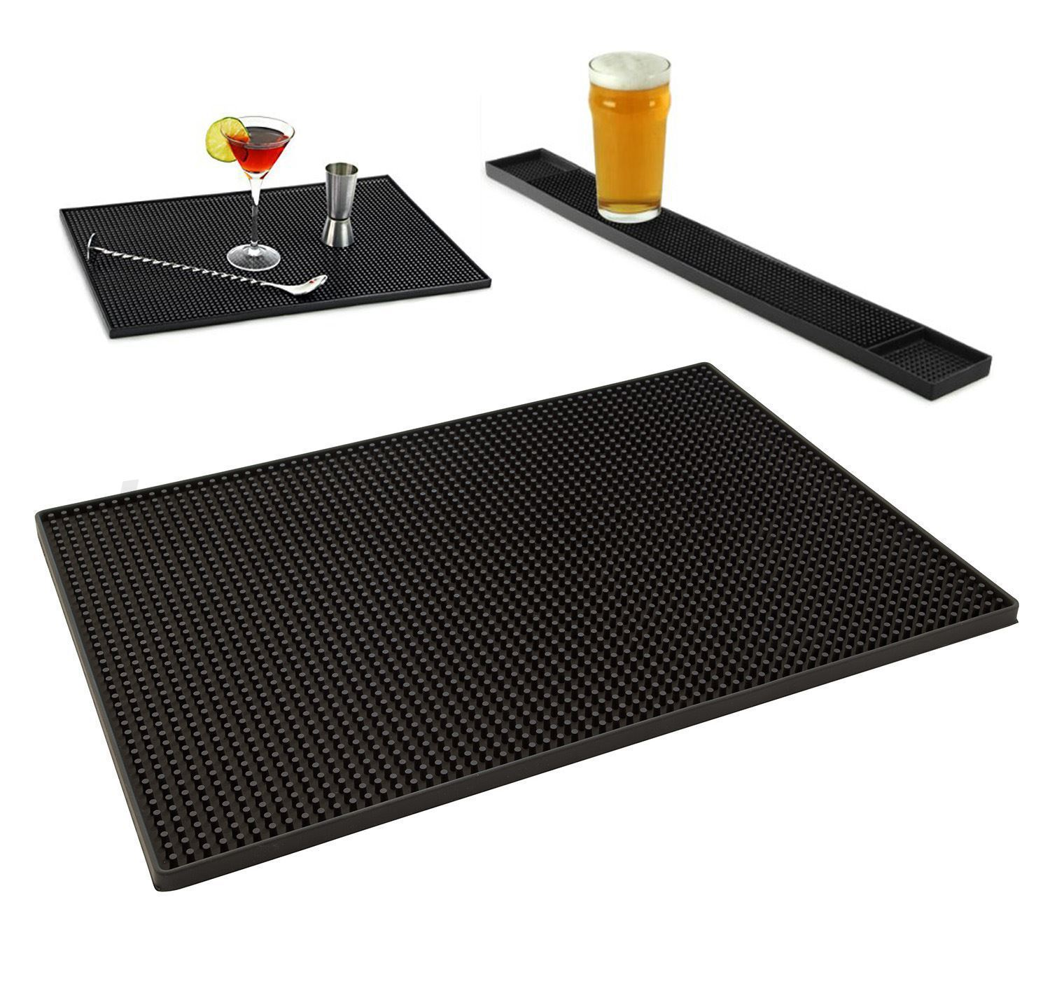 Rubber Service Bar Mat 300 X 450mm Heavy Duty Bar And