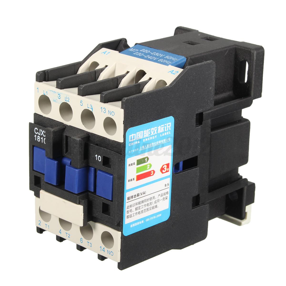Ac 220v coil 32a 3 phase 1no 50 60hz motor starter relay for 3 phase motor starter