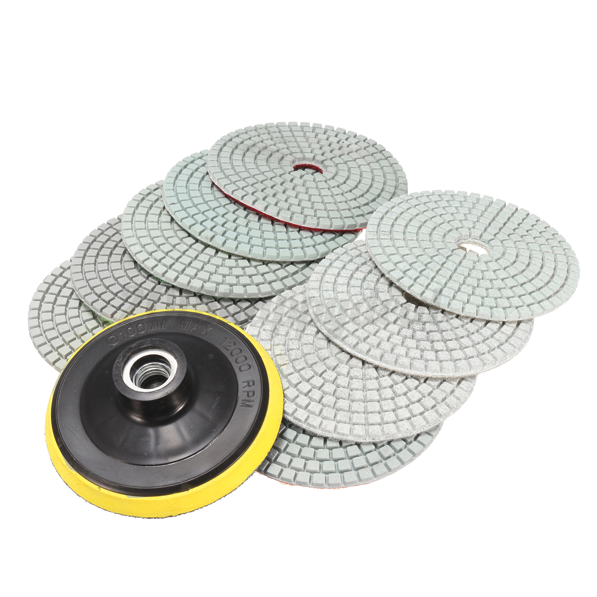 10pcs diamond polishing pads 4 u0026quot  grinding disc for granite